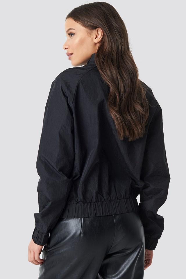 Sporty Front Pocket Jacket Black