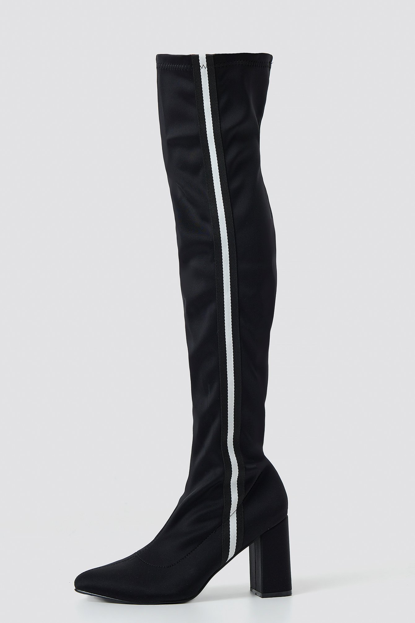 Striped Overknee Boots NA-KD.COM