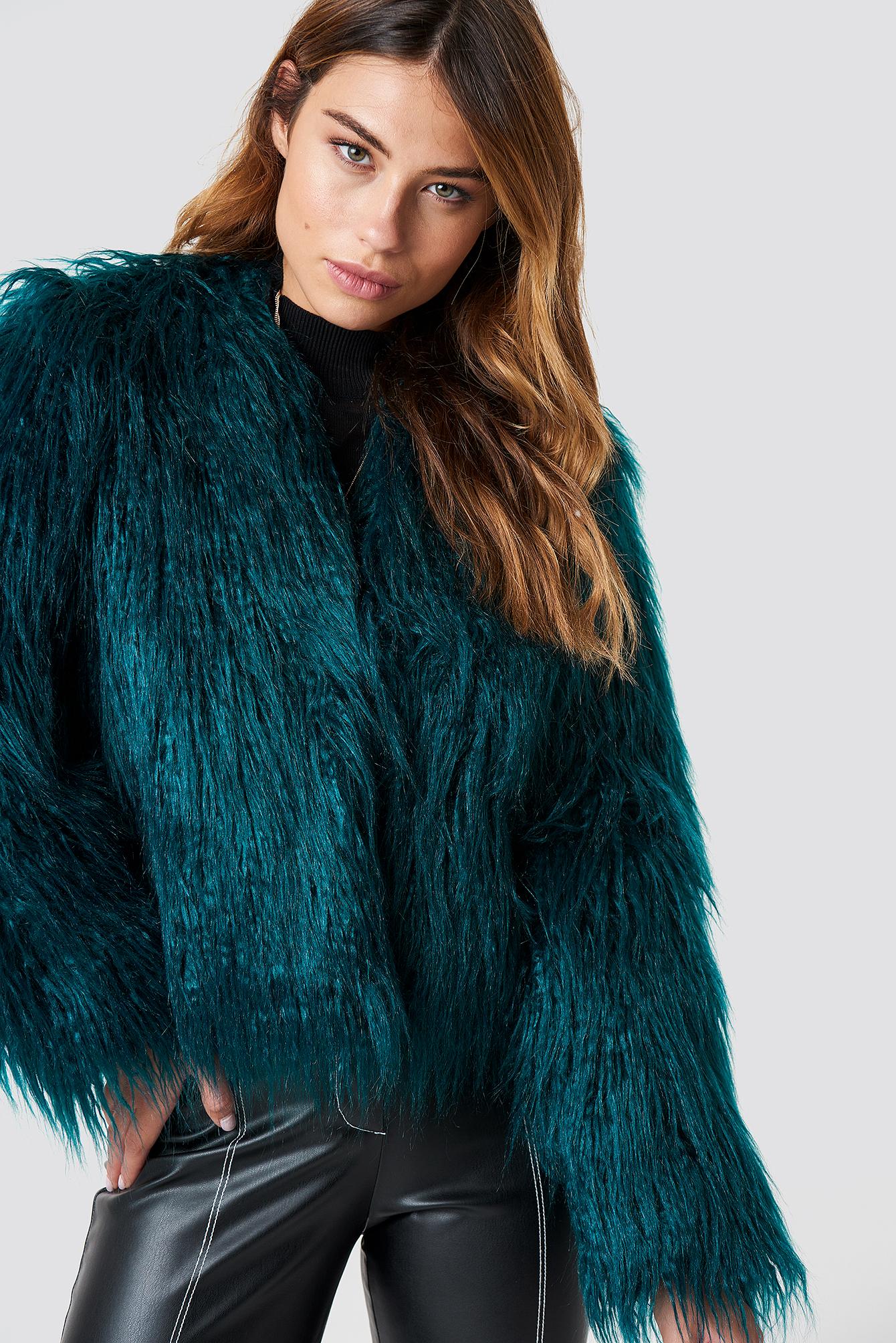 Wavy Faux Fur Jacket NA-KD.COM