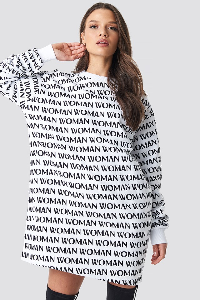 Woman Printed Sweatshirt Black/White