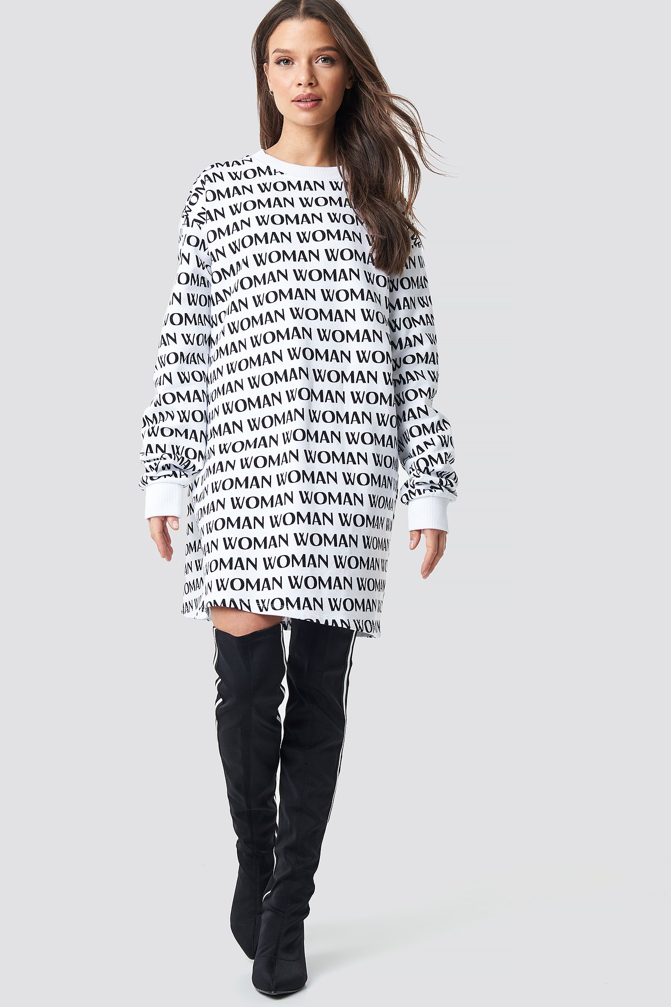 Woman Printed Sweatshirt NA-KD.COM