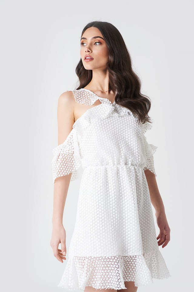 Double Frill Sleeve Dress Linn Ahlborg x NA-KD
