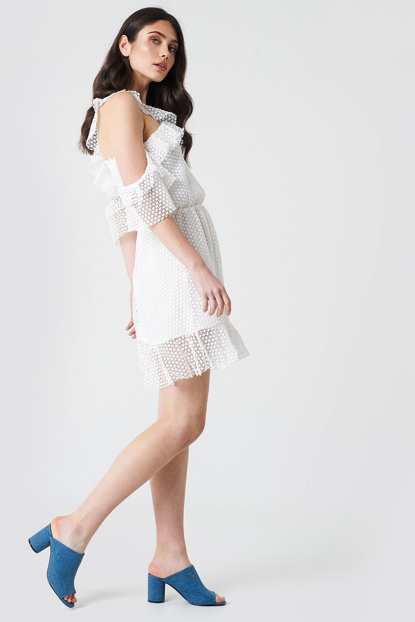 Double Frill Sleeve Dress NA-KD.COM