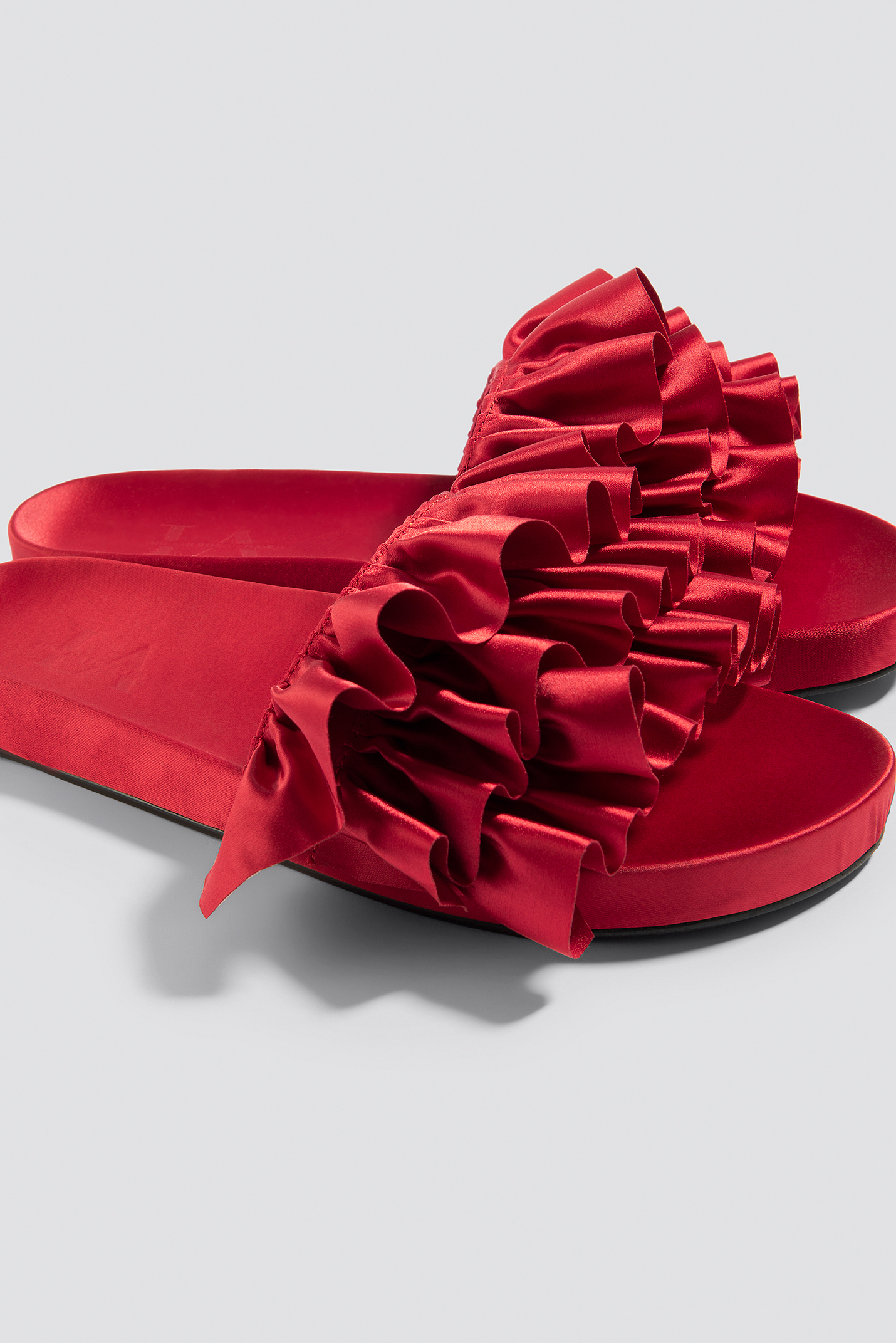 Satin Frill Slippers NA-KD.COM