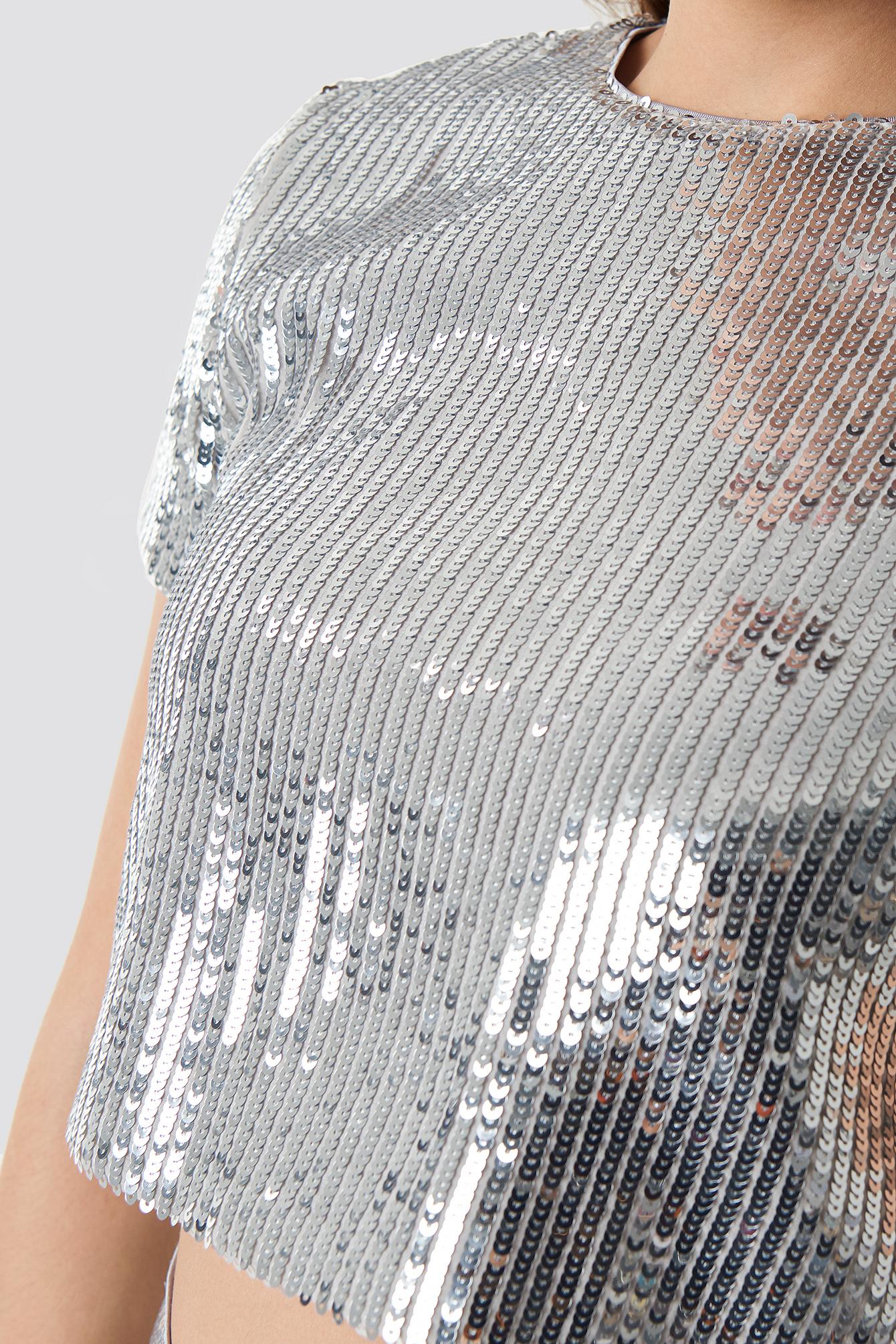 Sparkle Striped Tee NA-KD.COM