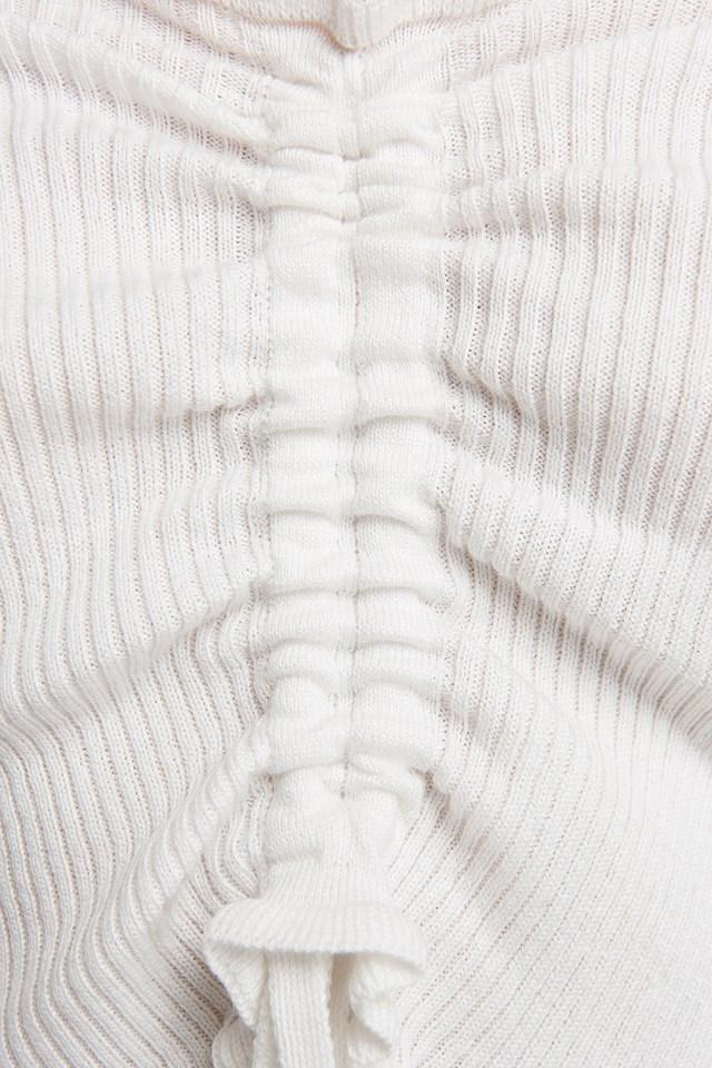 Drawstring Detail Top White