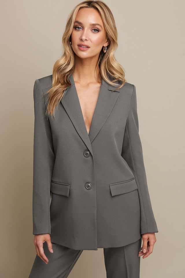 Fitted Blazer Grey