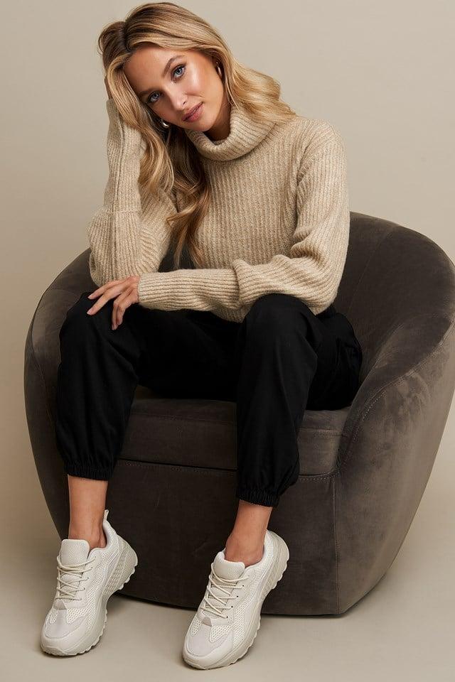 High Neck Cropped Sweater Linn Ahlborg x NA-KD