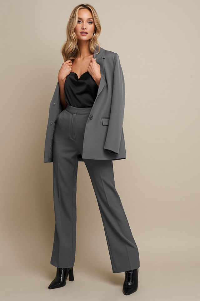 High Waist Flared Leg Suit Pants Linn Ahlborg x NA-KD