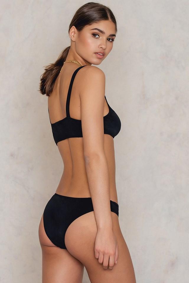 Anjelica Houston Bikini Black