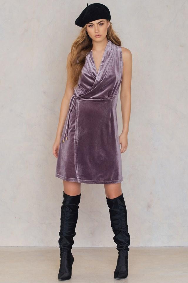 Bel Air Velvet Dress Dusty Cedar