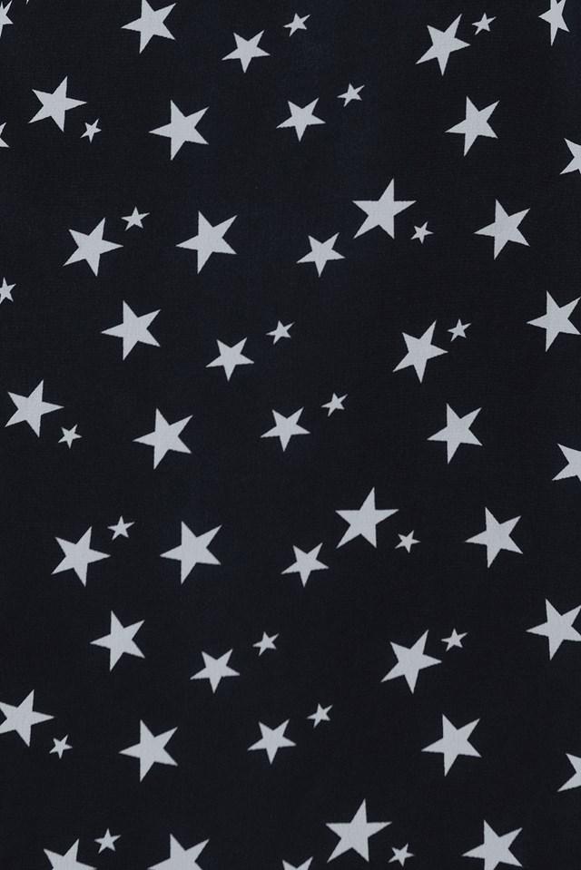Cold Shoulder Dress Star Print
