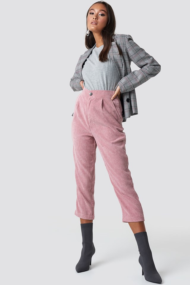 Cortez Cord Pants Dusty Pink