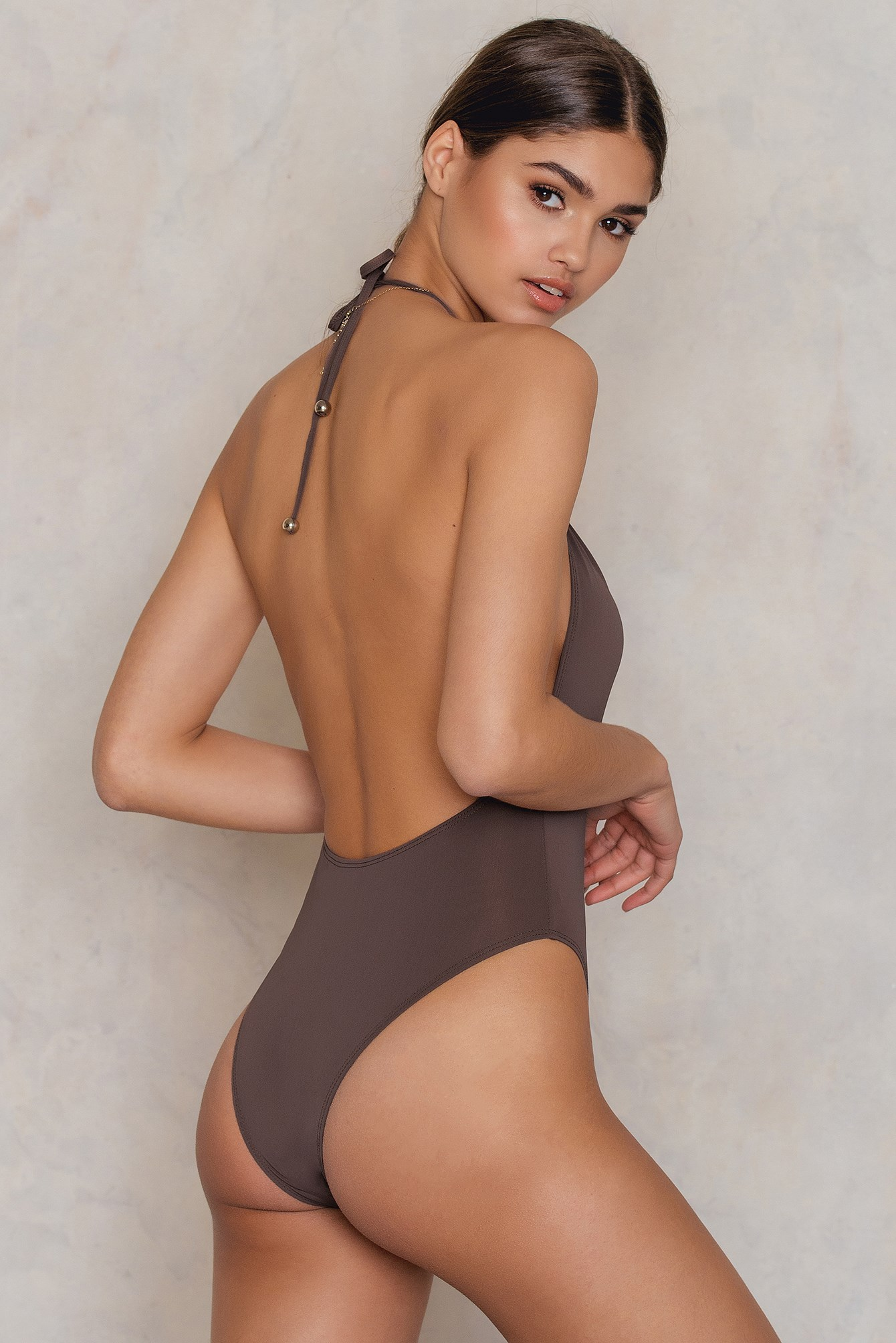 Jerry Hall Halter One Piece NA-KD.COM