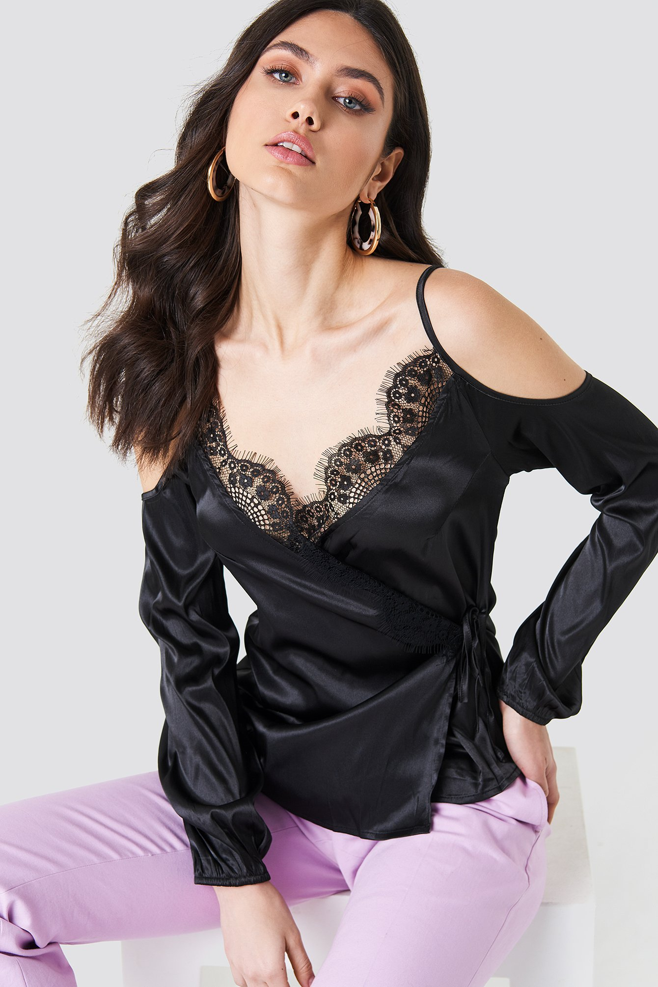 Lioness LACE LOVERS TOP - BLACK