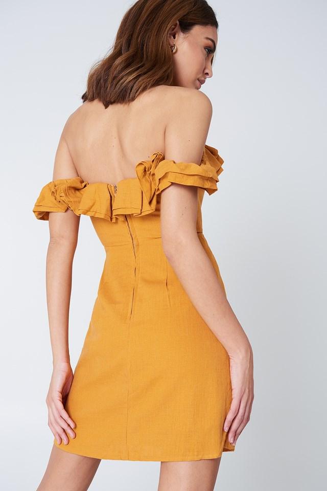 Rendevous Frill Dress Mustard