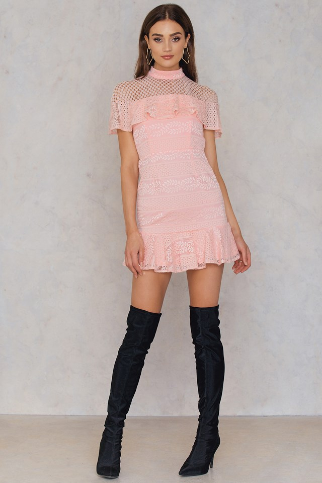 Sweet Lies Dress Blush Pink