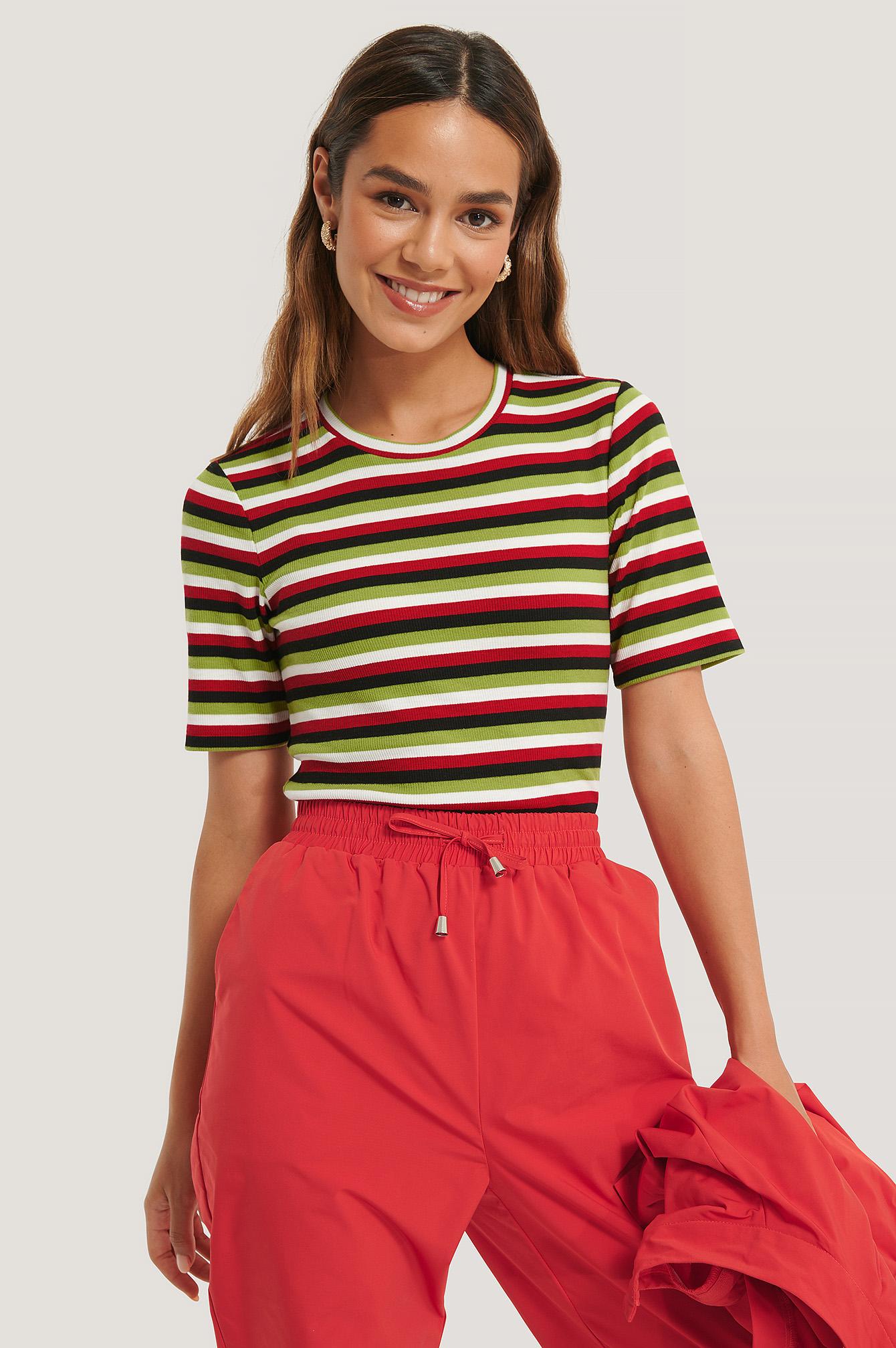 lizzy x na-kd -  Gestreiftes Top - Multicolor