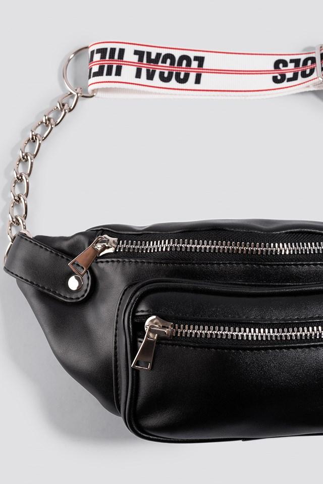 LH Chain Bumbag Black