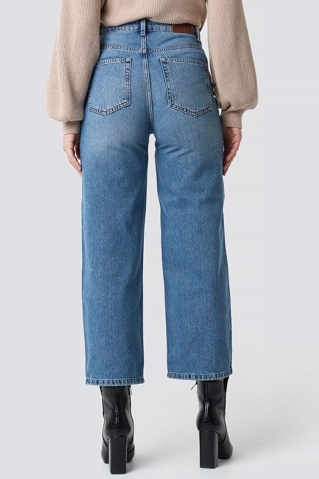 Loose Leg Jeans Mid Blue