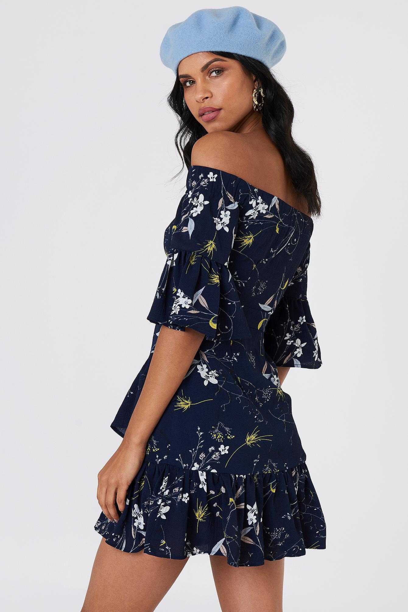Emilia Ruffle Mini Dress NA-KD.COM