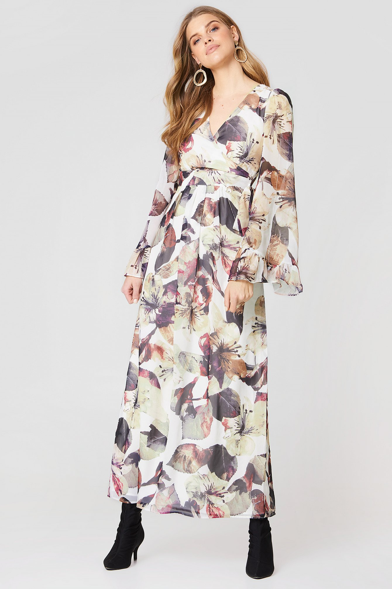 Hailey Belted Maxi Dress NA-KD.COM