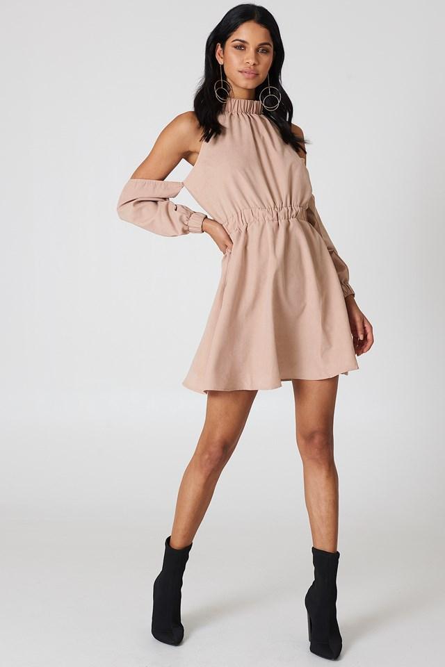 Peyton Cold Shoulder Dress Blush