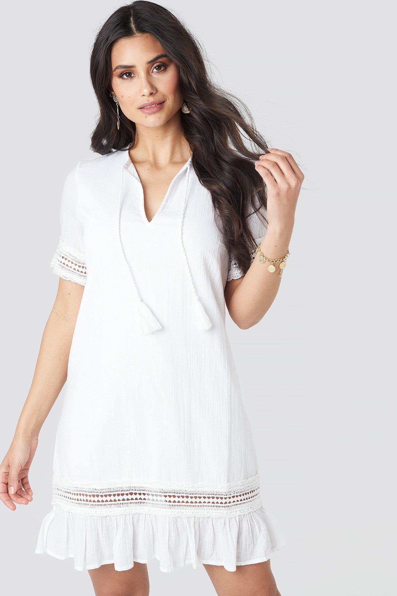 A-line Crochet Dress NA-KD.COM