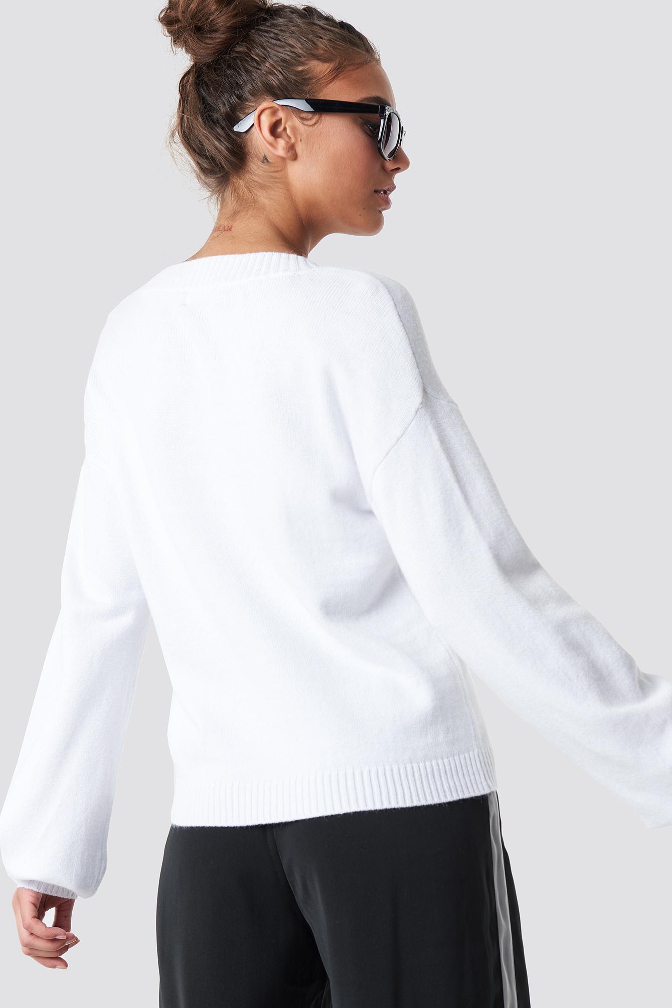 Deep V-neck Sweater NA-KD.COM