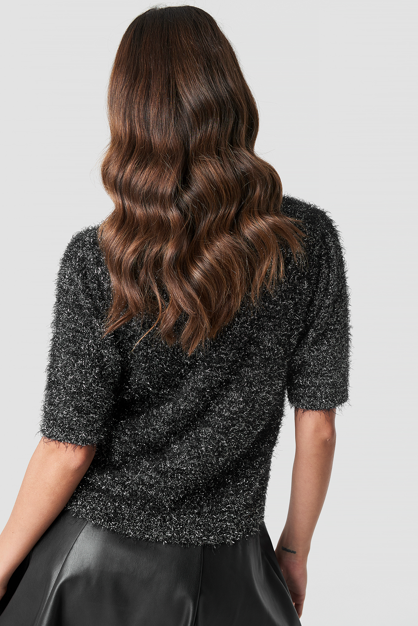 Glitter Knitted Tee NA-KD.COM