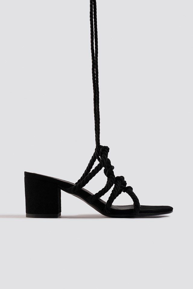 Lacing Sandal Black