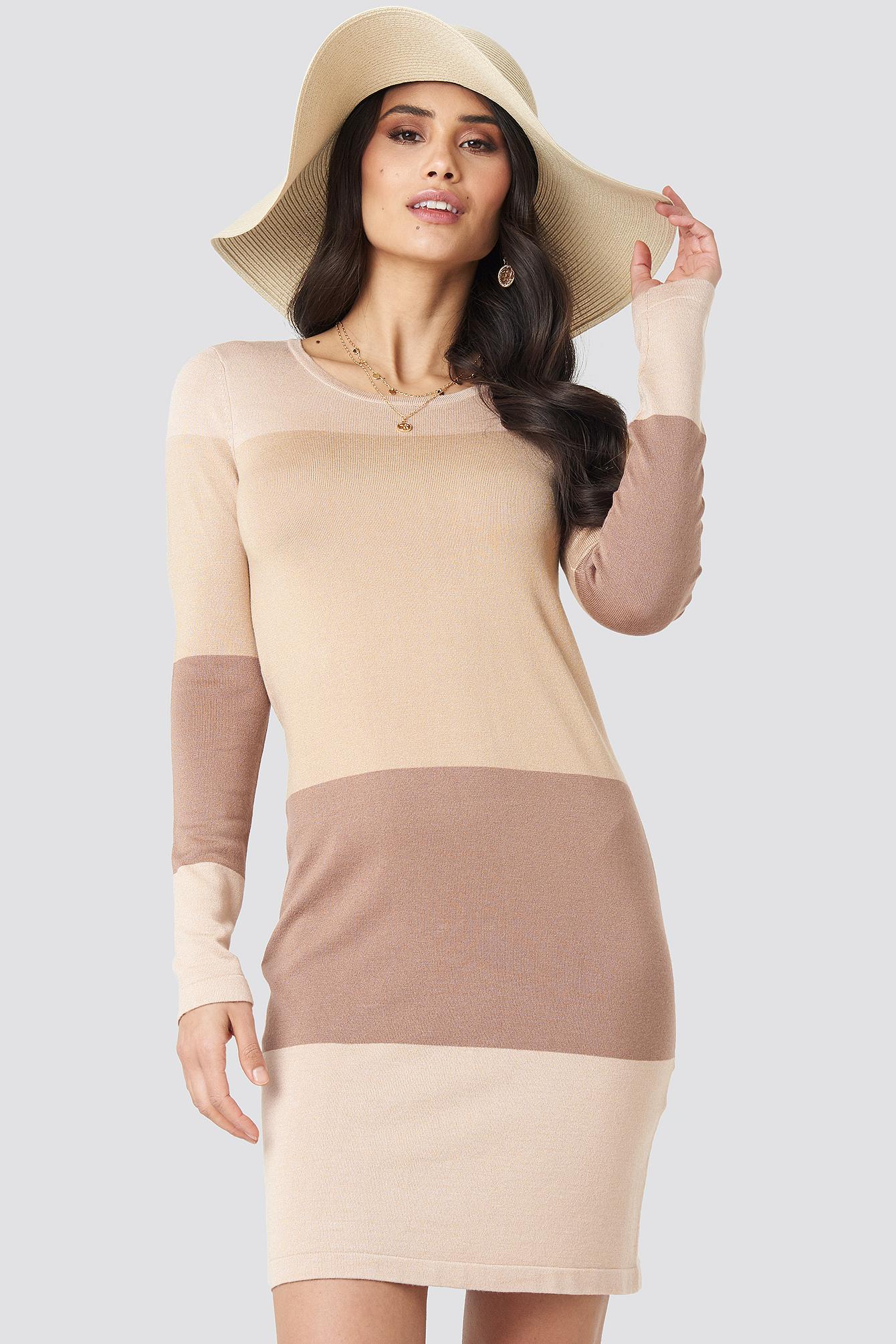 Light Knit Blocked Dress NA-KD.COM