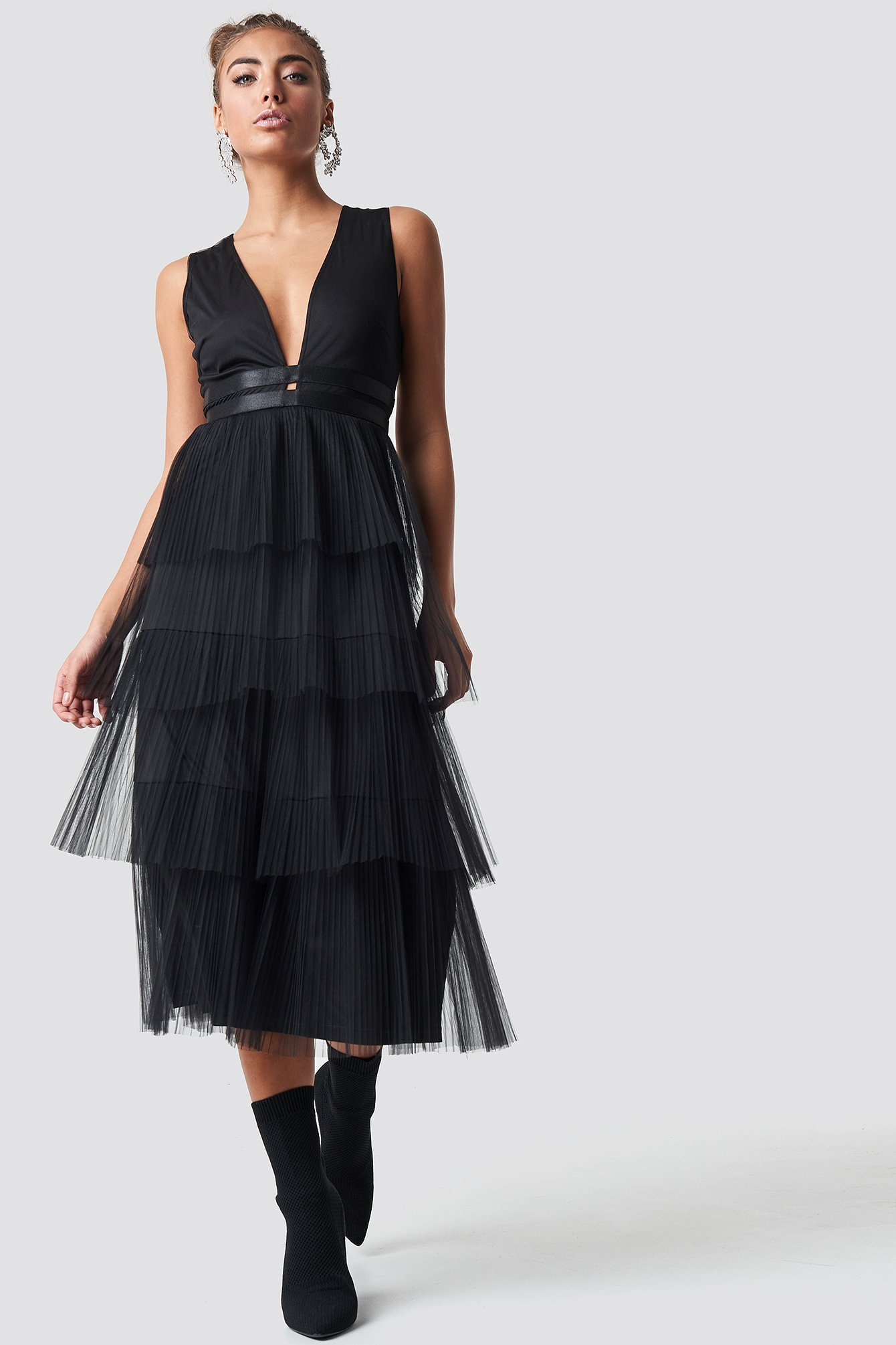 Pleated Tulle Dress NA-KD.COM