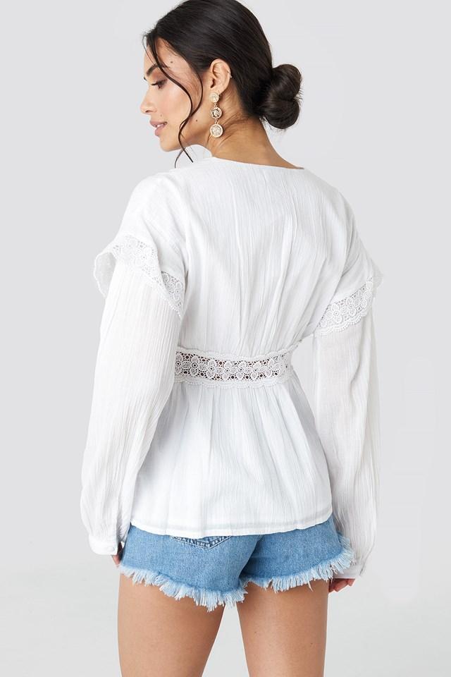 Puff Sleeve Blouse White