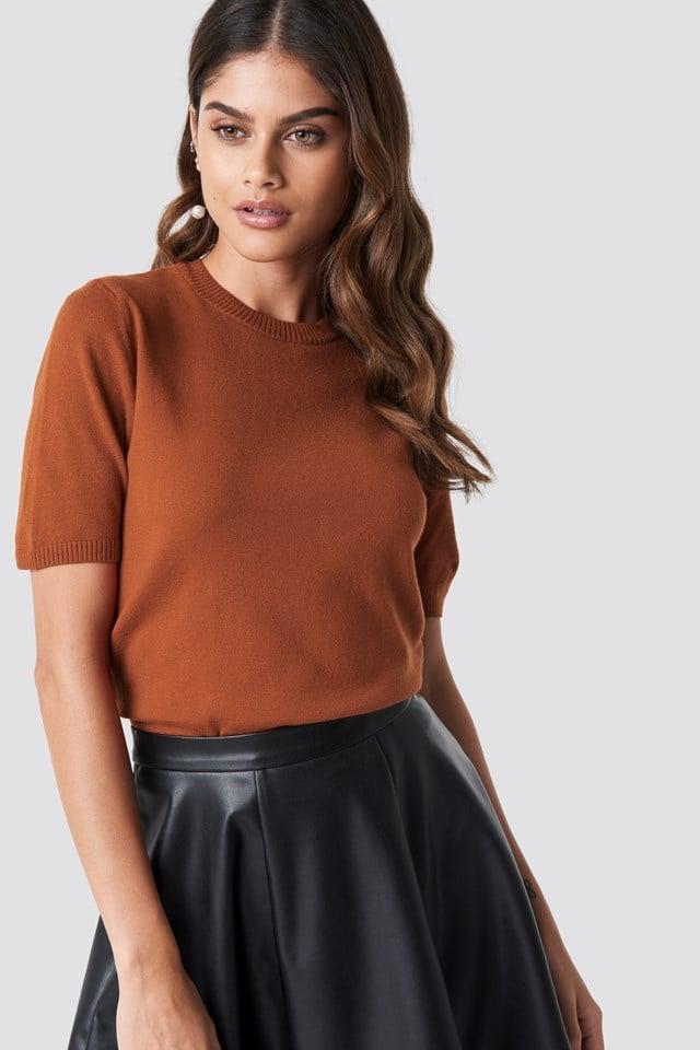 Soft Knitted T-shirt NA-KD.COM