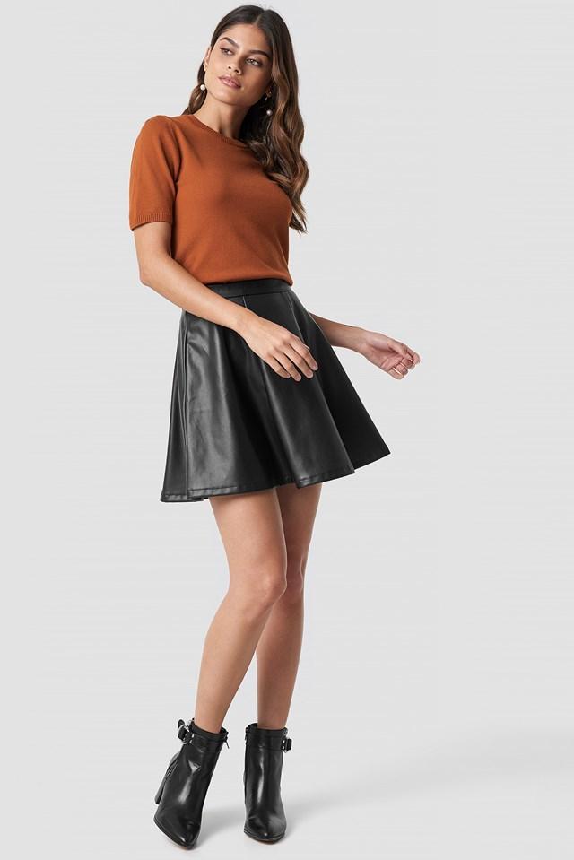 Soft Knitted T-shirt Rust