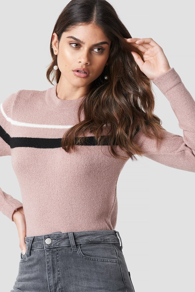 Striped Sweater Blush