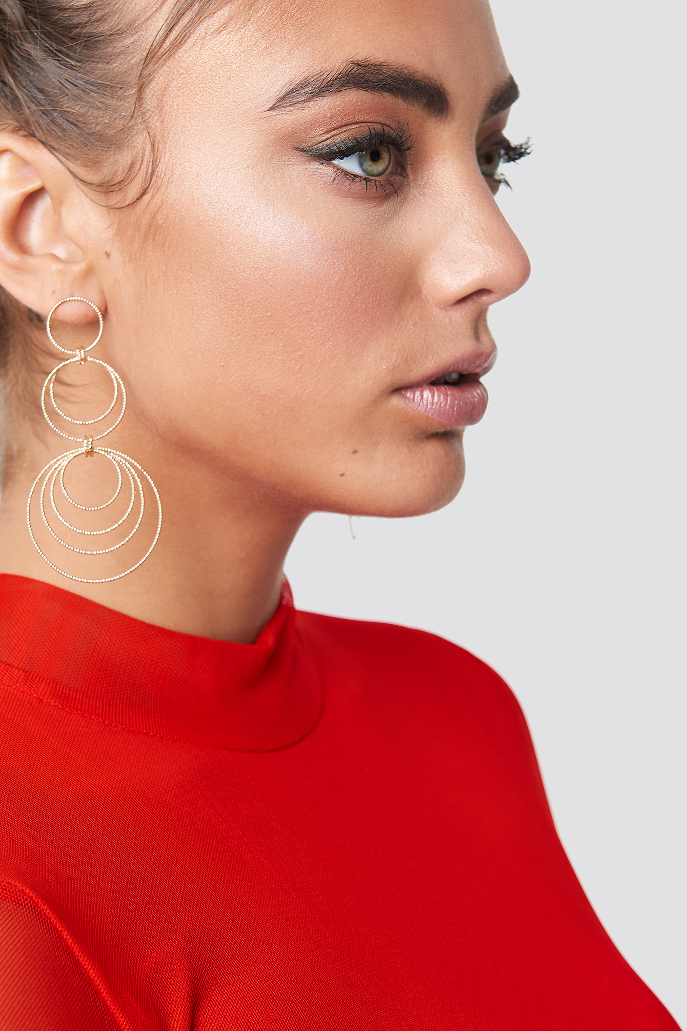 Textured Multi Circle Earrings NA-KD.COM