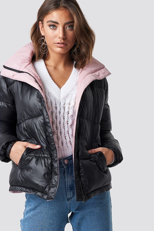 Two Toned Puffer Jacket Luisa Lion x NA-KD