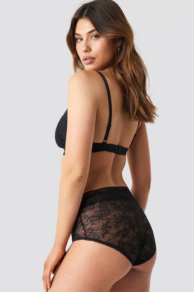 Leah High Panty Black