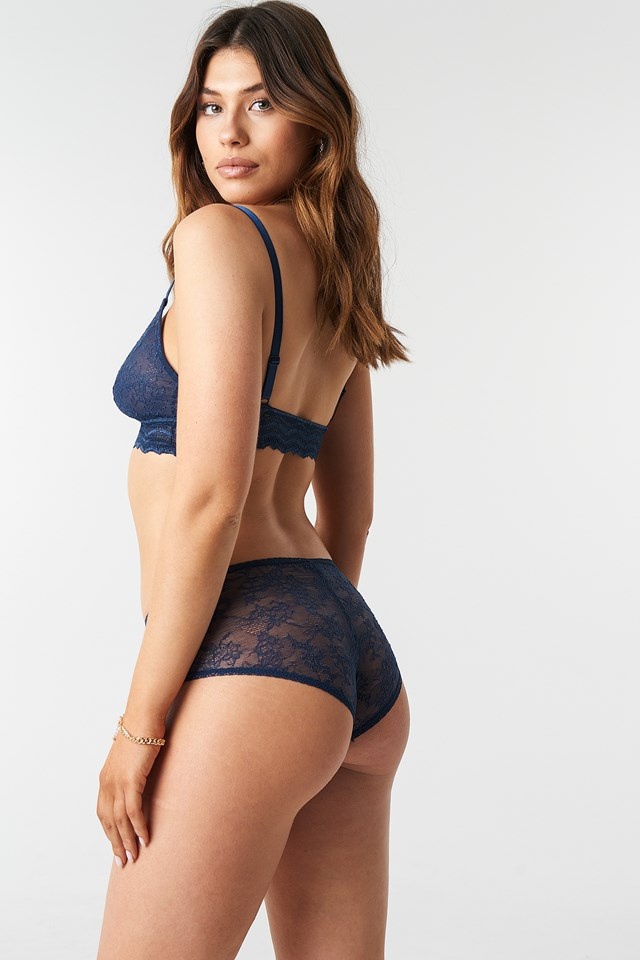 Leah Hipster Panty Navy