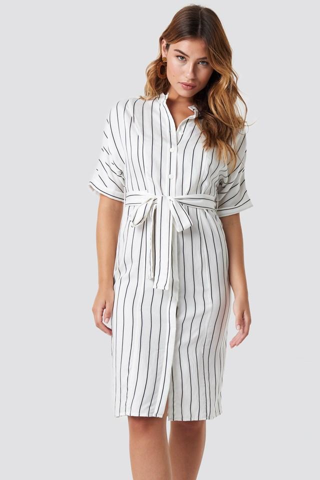Agnes Midi Dress Offwhite