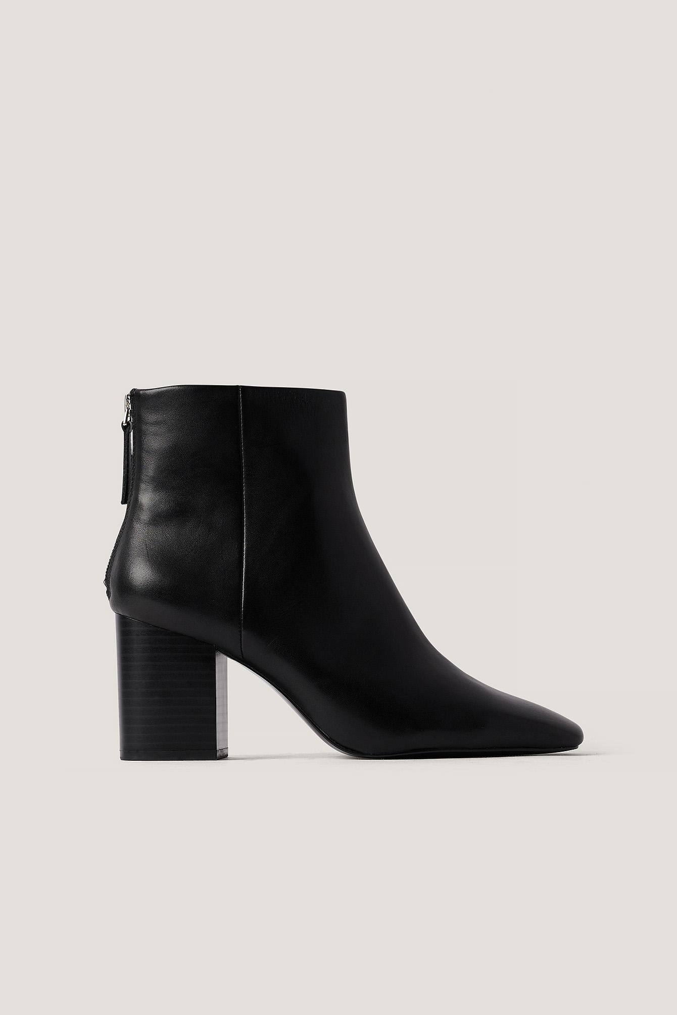 Mango Alba Ankle Boots - Black