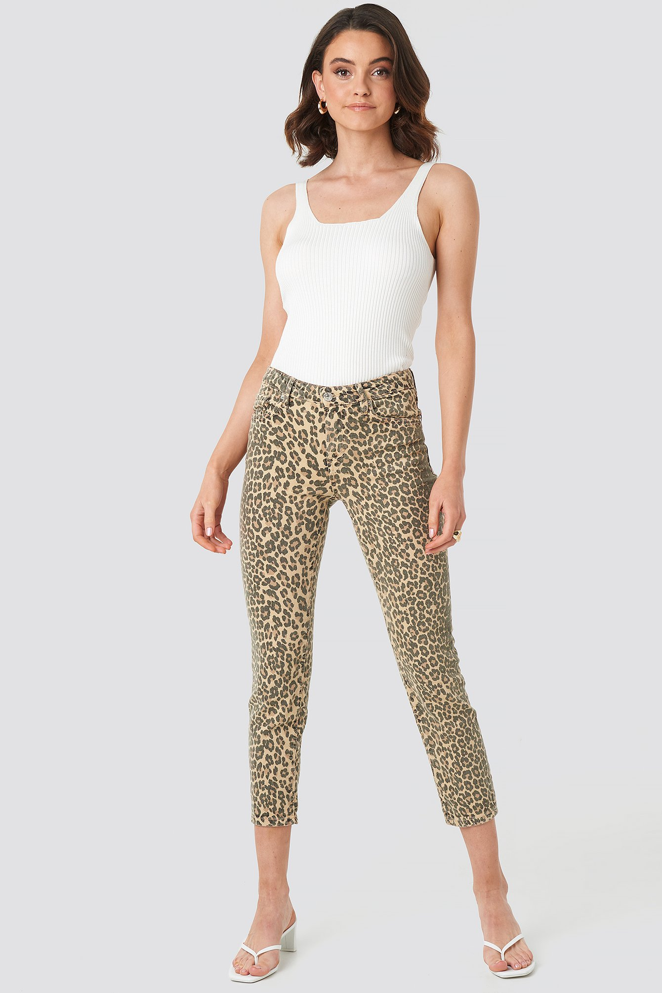 mango -  Animal Jeans - Beige