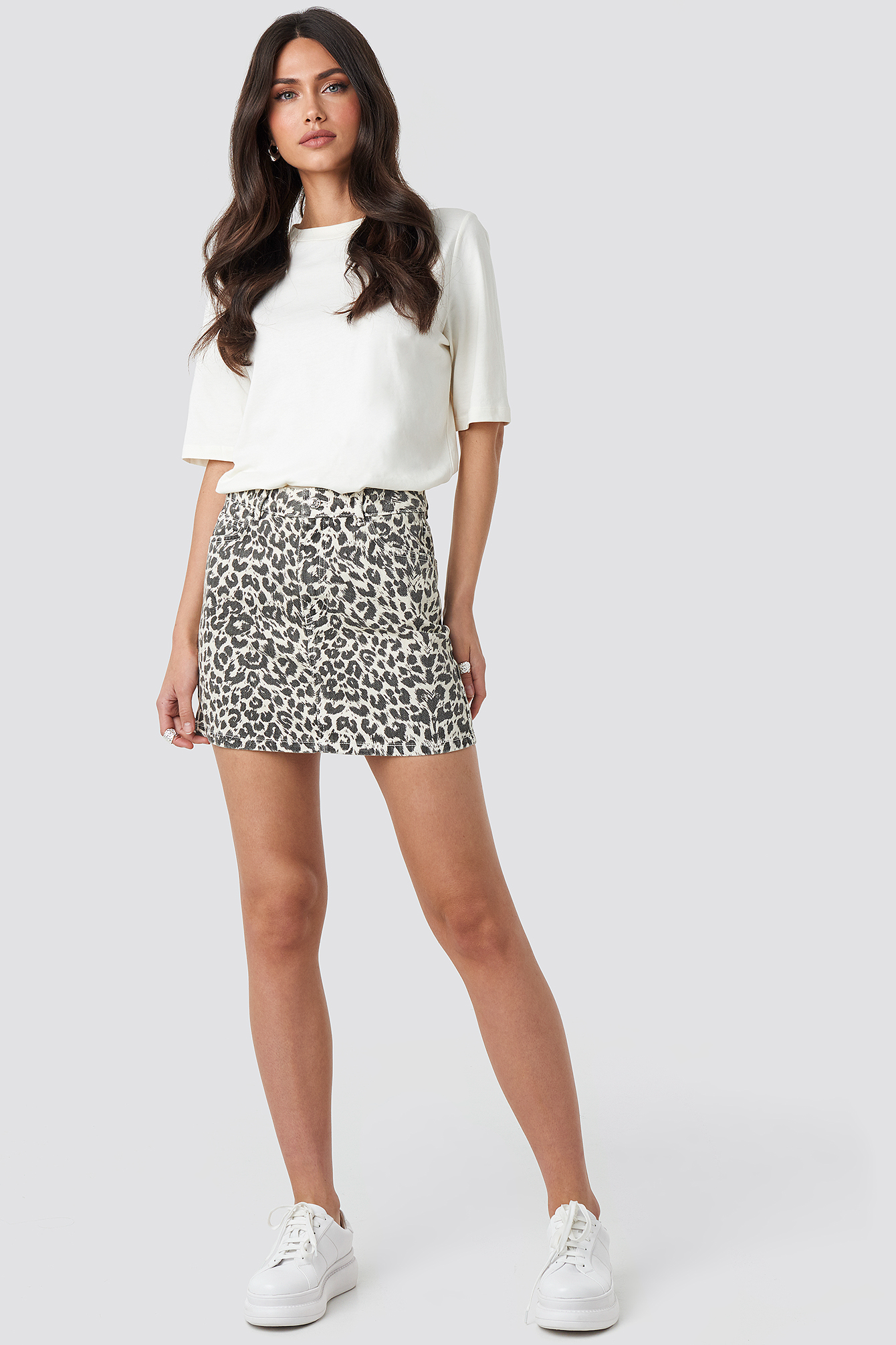 mango -  Animal Skirt - Multicolor