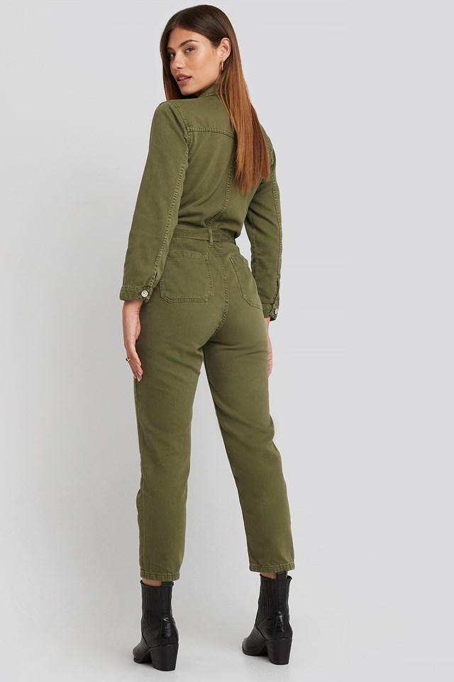 Army One-Piece Suit Khaki
