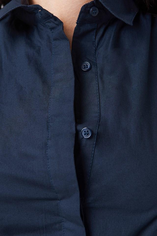 Belt Shirt Dress Navy