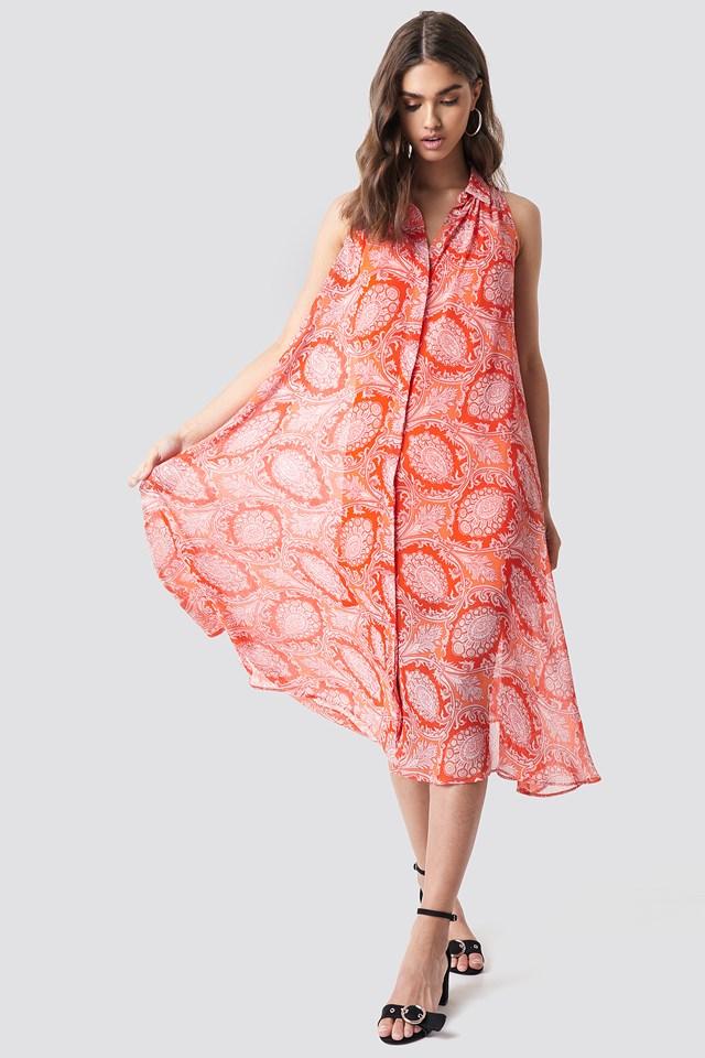 Bengala Dress Orange
