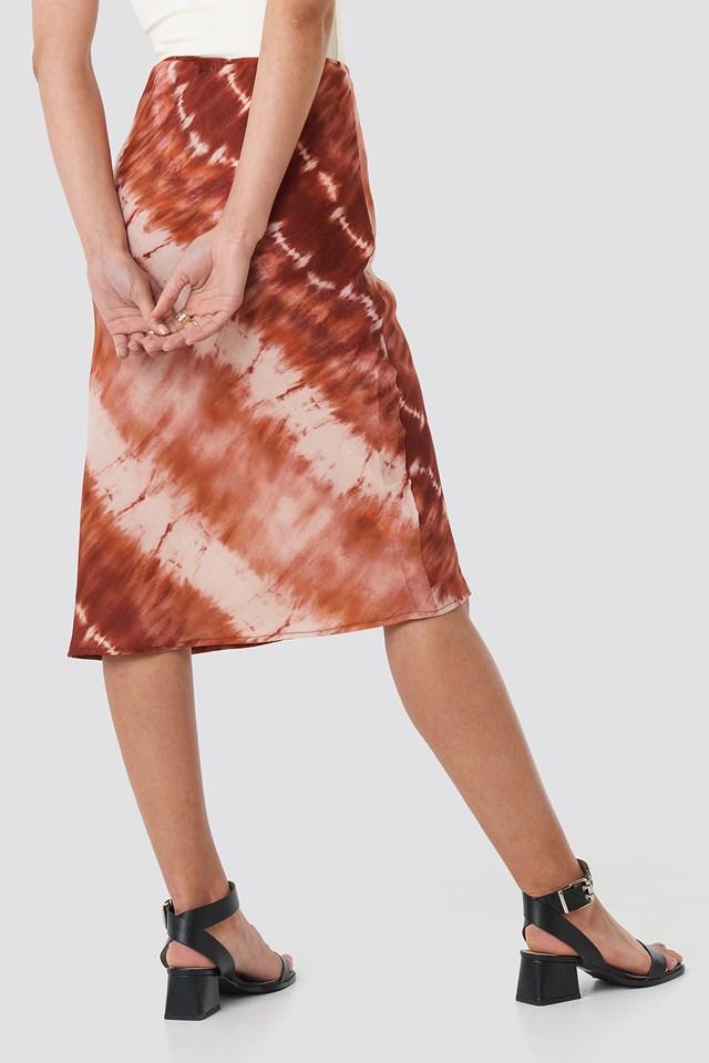 Bias Skirt Red