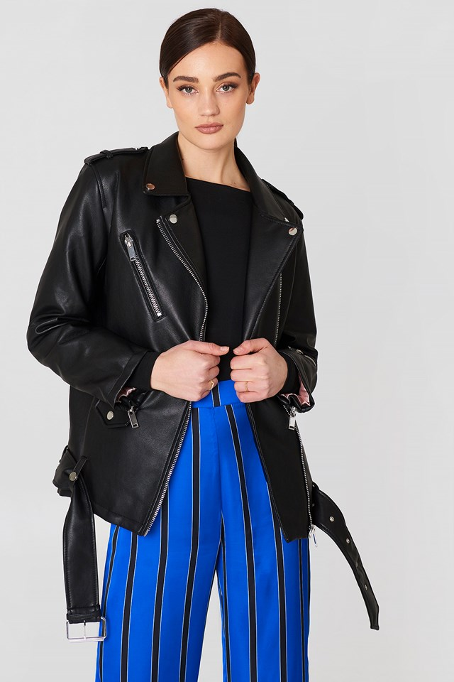 Biker Oversize Jacket Black